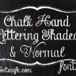 Chalk fonts and effects in Photoshop