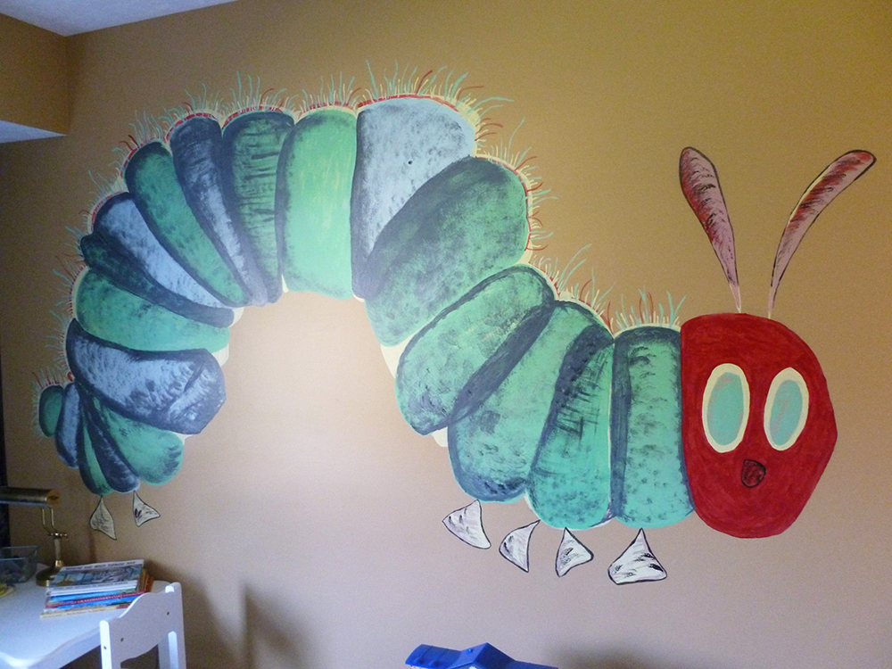Eric carle quilt finished for Eric carle mural
