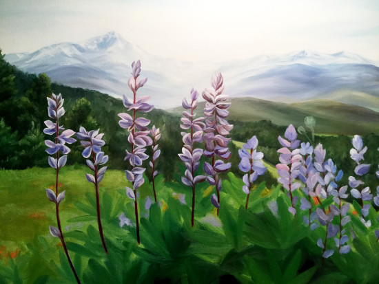 lupine painting