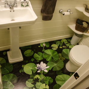 Pretty botanical powder bath