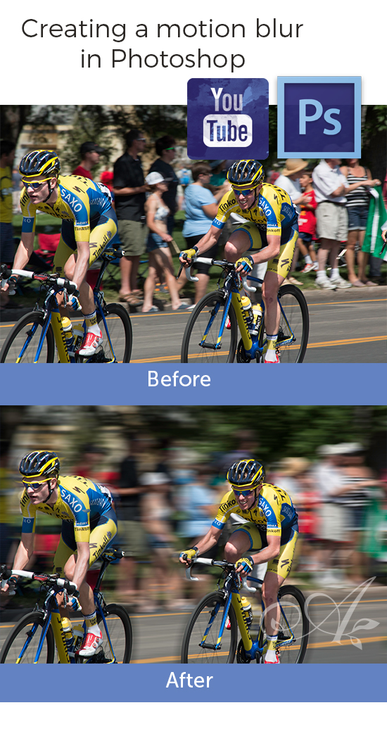 Creating a motion blur in Photoshop video tutorial
