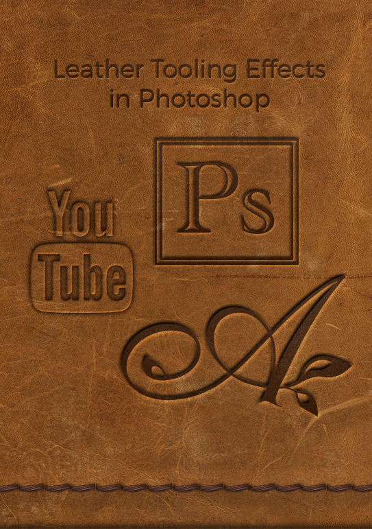 Leather tooling in Photoshop video tutorial
