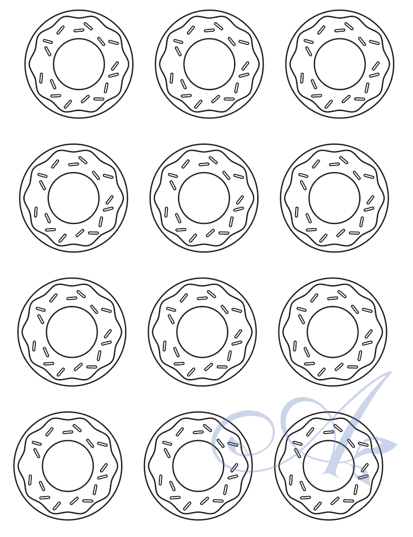 picture about Donut Printable titled Donut Printable - BotanicalAmy